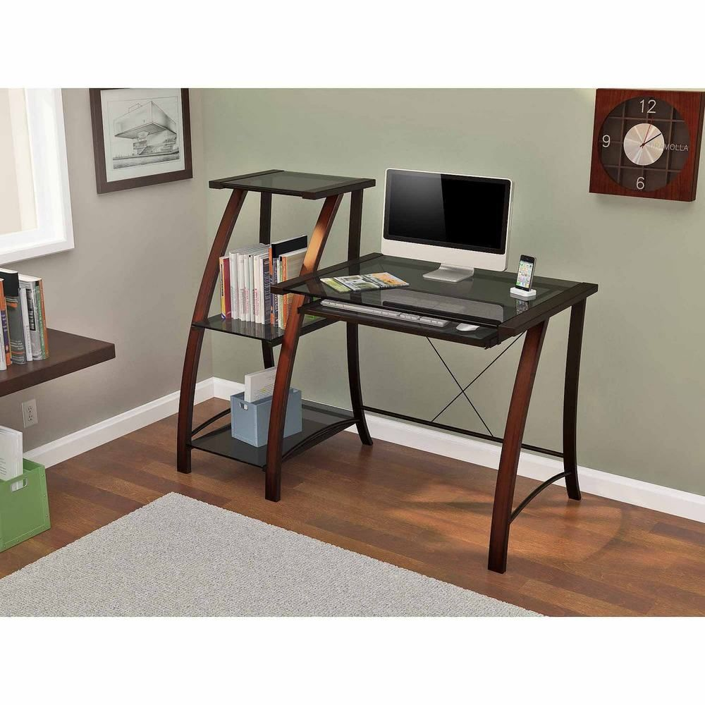 Cherry Office Desk And Bookcase Wood Office Table And