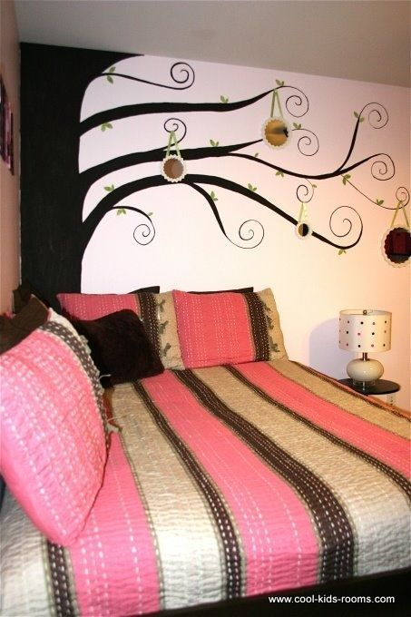 Pink and Brown Teen Girl Bedroom Decorating, Cynthia , Theo McBride