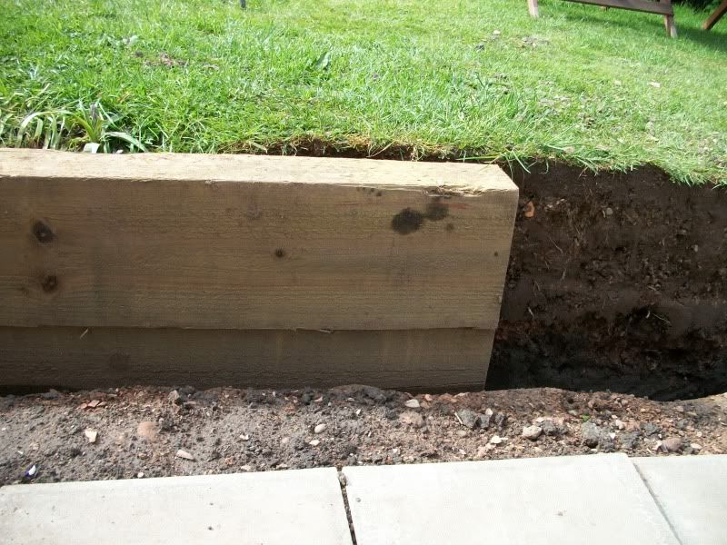 retaining wall using railway sleepers - Garden Ideas Using Sleepers