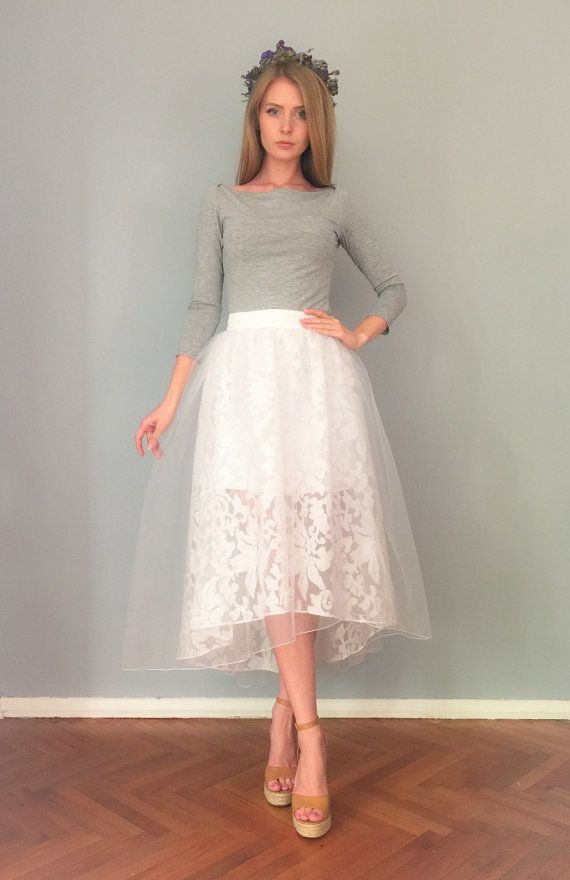 9003f4d9d4 The skirt is made of organza and covered with tulle. Perfectly holds its  form and gives playful look. Suitable for wedding, parties, proms and