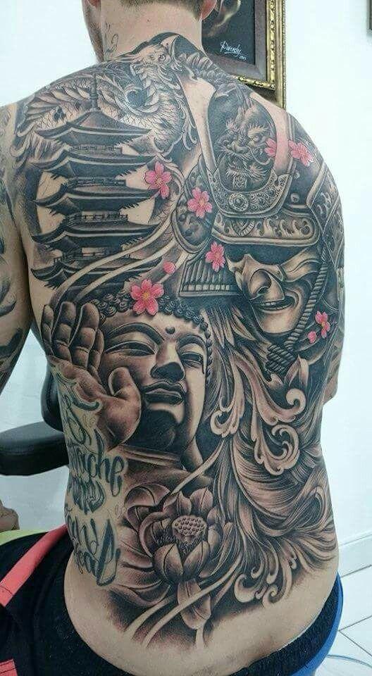 Full Back Samurai Tattoo Japanese Tattoos Tatuajes De Buda