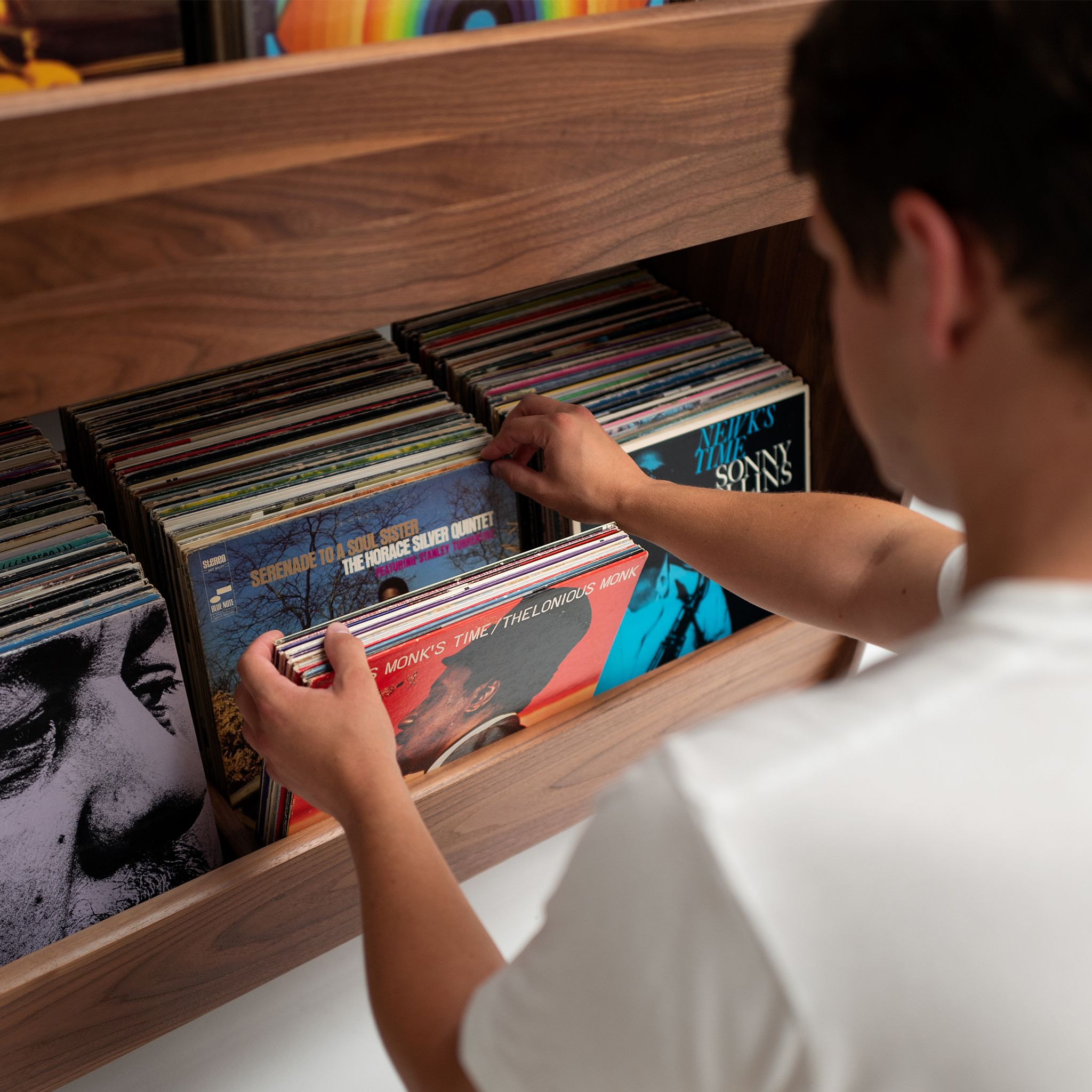Luxe Record Stand In 2020 Record Stand Vinyl Storage Records