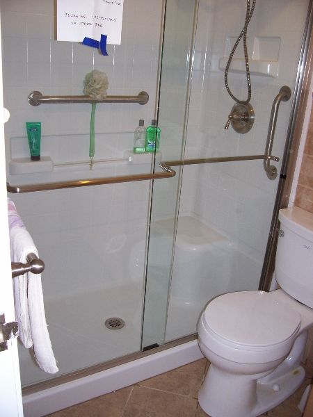 Bathroom Renovations For Elderly Shower With Horizontal And - Bathroom renovation for elderly