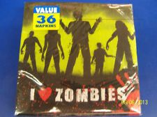 RARE Beware Zombie Apocalypse Halloween Carnival Party Paper Luncheon Napkins