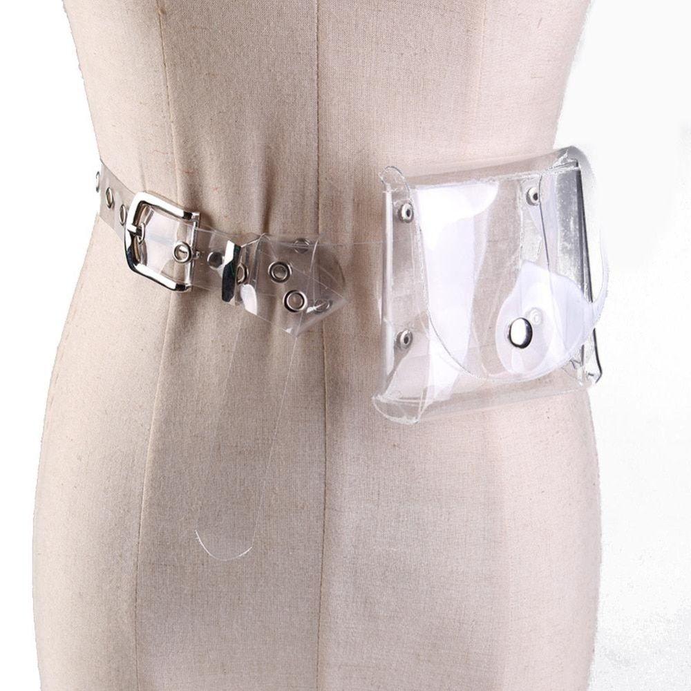 Phone Bags & Cases Women Waist Plastic Belt Bum Hologram Pack Pouch Clear Transparent Fanny Cellphones & Telecommunications