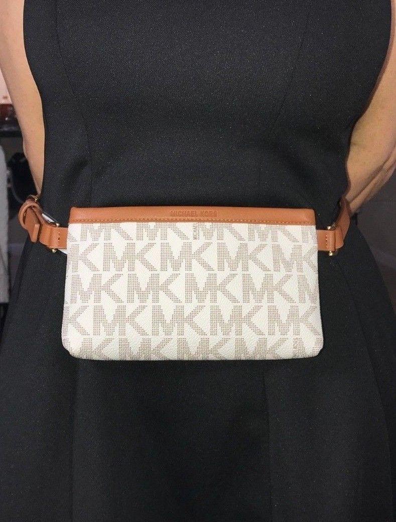 ffa0f6873d48 Authentic Michael Kors MK Logo Belt Bag Waist Pouch Bag (Size US Small)