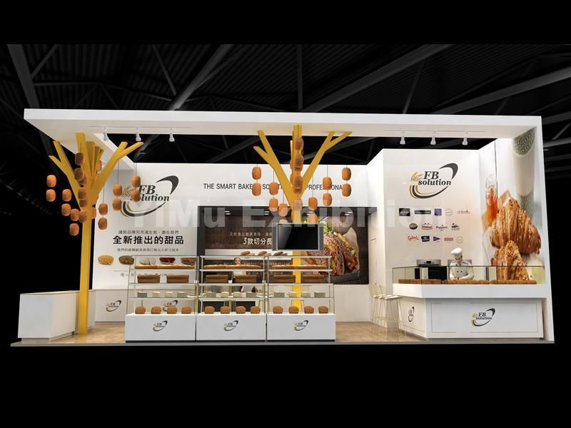Exhibition stand design and booth construction for bakery