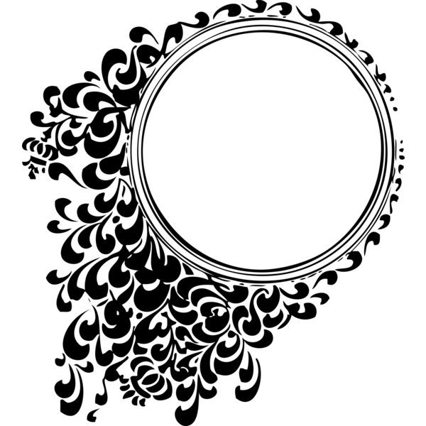 filigree circle ❤ liked on Polyvore featuring frame, borders and picture frame