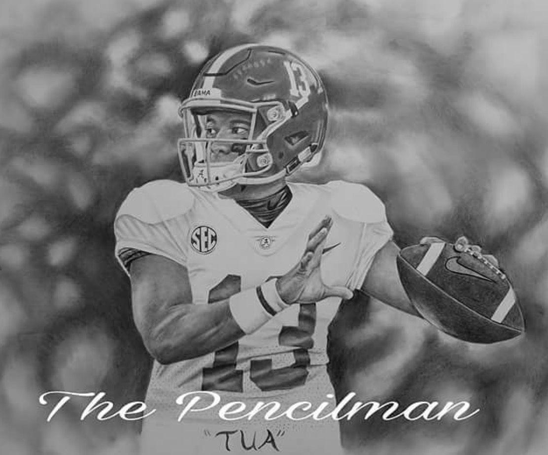 Tua Credit Clarence Pencilman Pointer On Instagram Www Clarencepointer Com Alabama Rolltide Bama Builtbybama Alabama Football Crimson Tide Football Alabama Crimson Tide
