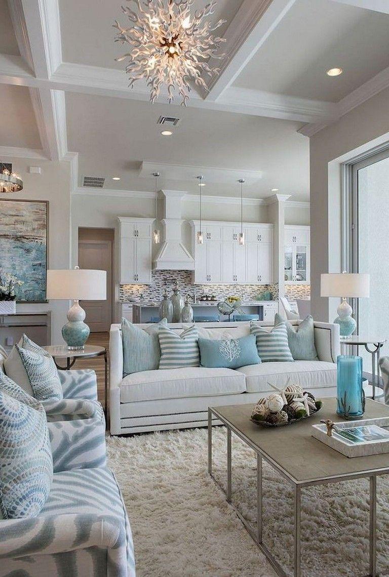53 Stunning Vintage Mid Century Living Room Decor Ideas Coastal Style Living Room Coastal Living Rooms Living Room Makeover
