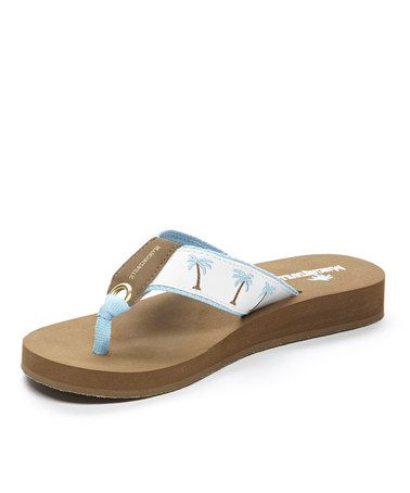 8384b6a03 Another great find on  zulily! White   Blue Breezy Flip-Flop - Women ...