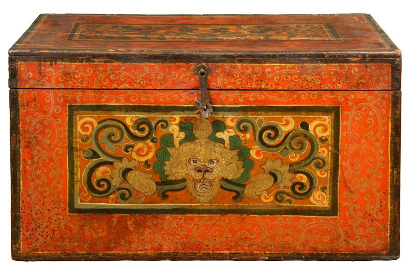 antique tibetan chest