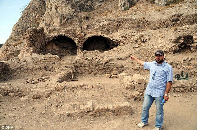 'The castle is completely surrounded by secret tunnels. It is very mysterious,' said archaeologist İbrahim Çetin (pictured).'Dracula stayed here. It is hard to estimate in which room Dracula was kept, but he was around here,' Mr Çetinadded