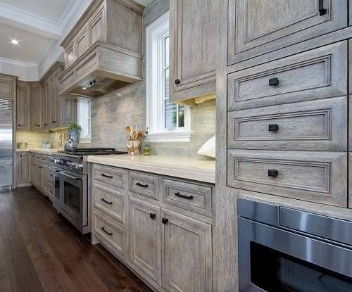 Design In Wood What To Do With Oak Cabinets: 15 Gorgeous Grey Wash Kitchen Cabinets Designs Ideas