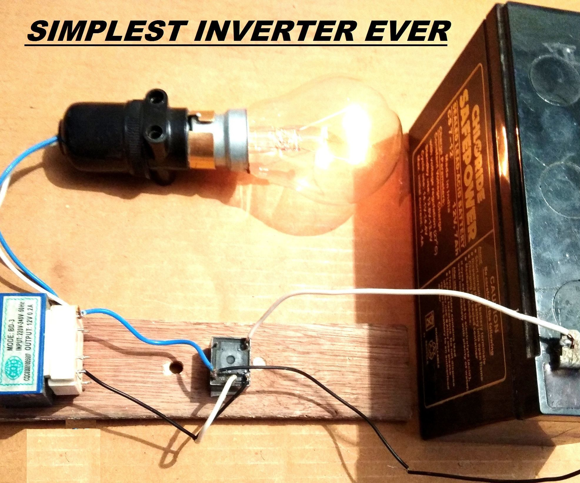 Simplest 12v To 220v Dc To Ac Power Inverter Diy With Images