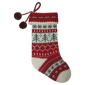 red knit fair isle christmas stocking wondershop target - Christmas Stockings Target