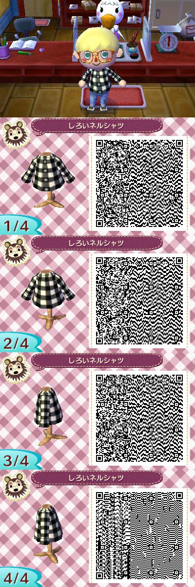 Flannel Shirt Animal Crossing Qr Animal Crossing Qr Codes Animal Crossing