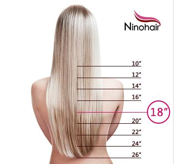 the length of hair