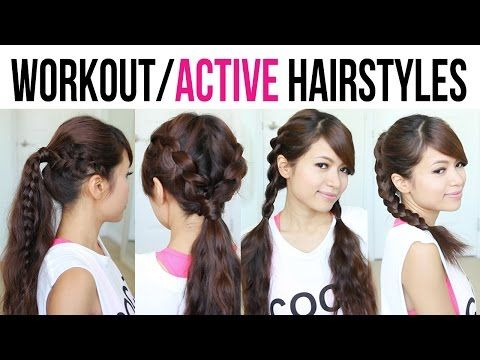 4 Cute Easy Workout Hairstyles For Medium To Long Hair Easy Workout Hairstyles Girls School Hairstyles Easy Hairstyles