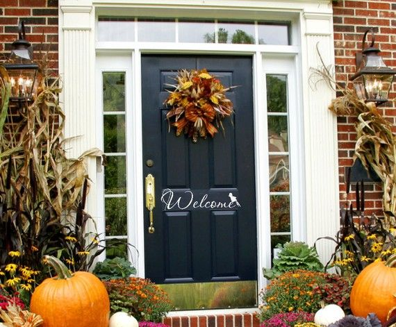 like this Silhouette Pinterest Black front doors, Front doors - large outdoor halloween decorations
