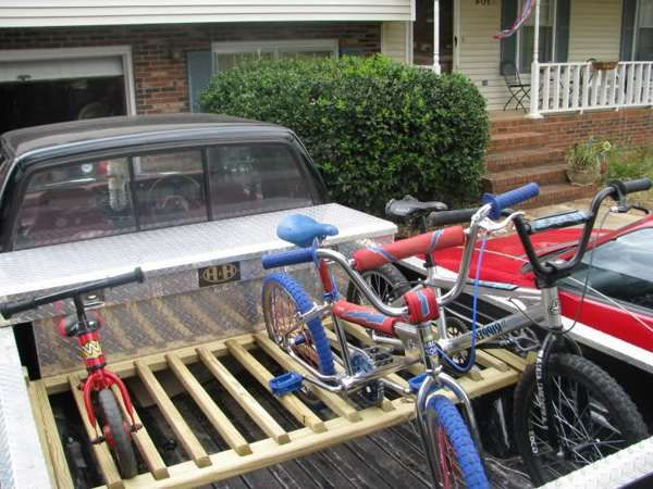 Bike Racks For Trucks Pvc truck bed bike rack wood