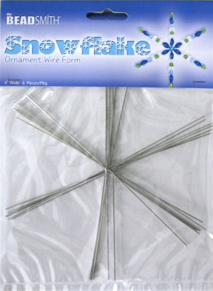 The Beadsmith Metal Wire Snowflake Form Fun Beading Project Three Size Variety Pack 21 Snowflakes