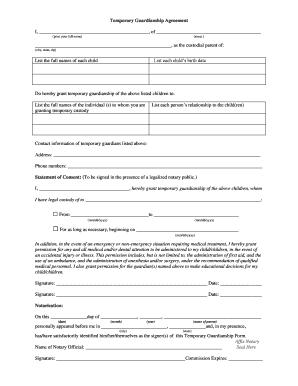 Temporarypermanent Custody Agreement Print Off Beanie Pinterest