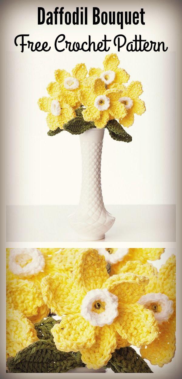 Daffodil Bouquet Free Crochet Pattern | crocheting | Pinterest ...