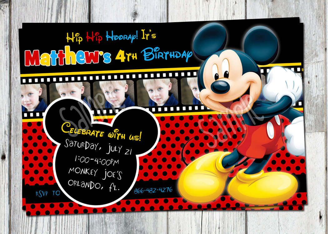 Printable Mickey Mouse Clubhouse Invitations  Invitation