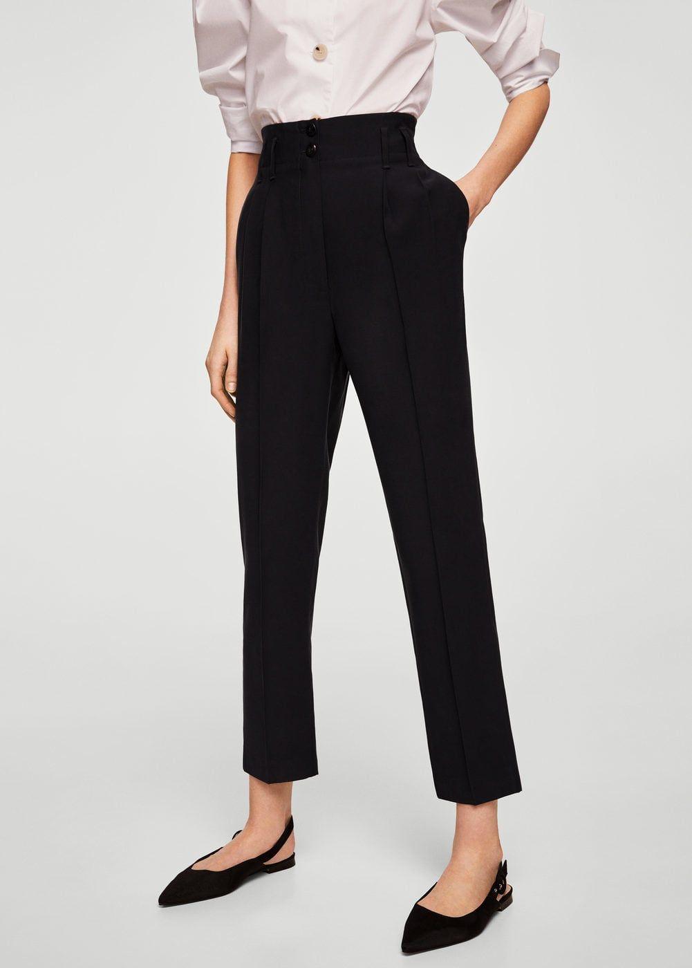 Black Trouser Pants For Ladies