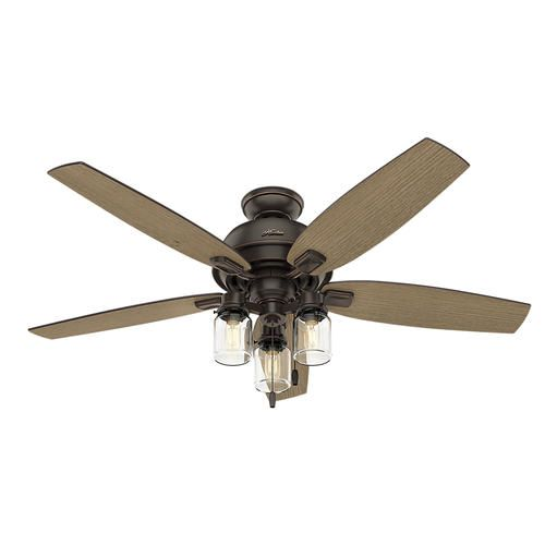 Hunter Morelli 52 Led Brushed Nickel Ceiling Fan At Menards: Best Led Ceiling Fan