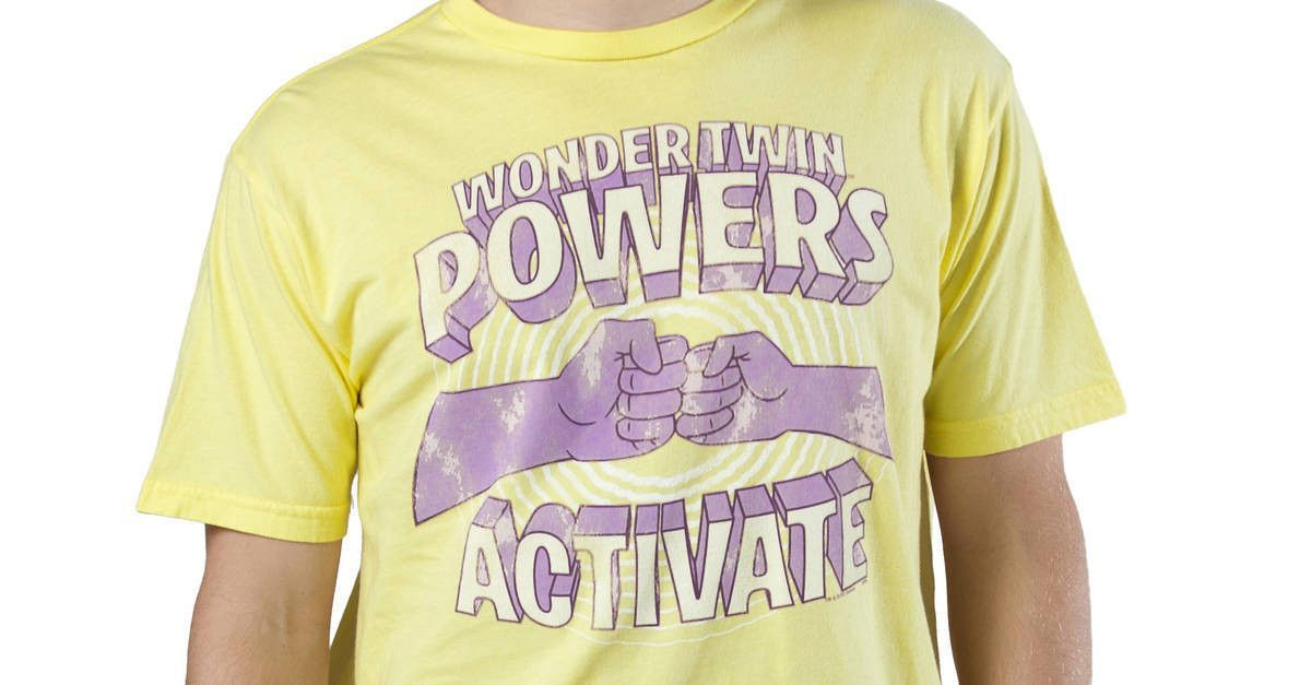 Wonder Twins T-Shirt by Junk Food in collections Super Heroes : Dc Comics : Justice League : Wonder Twins Mens T-shirts