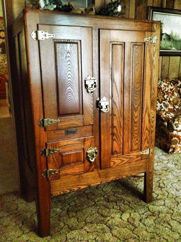 Pin by Joe Cochran on Old Wood Ice Box in 2019 | Vintage ...
