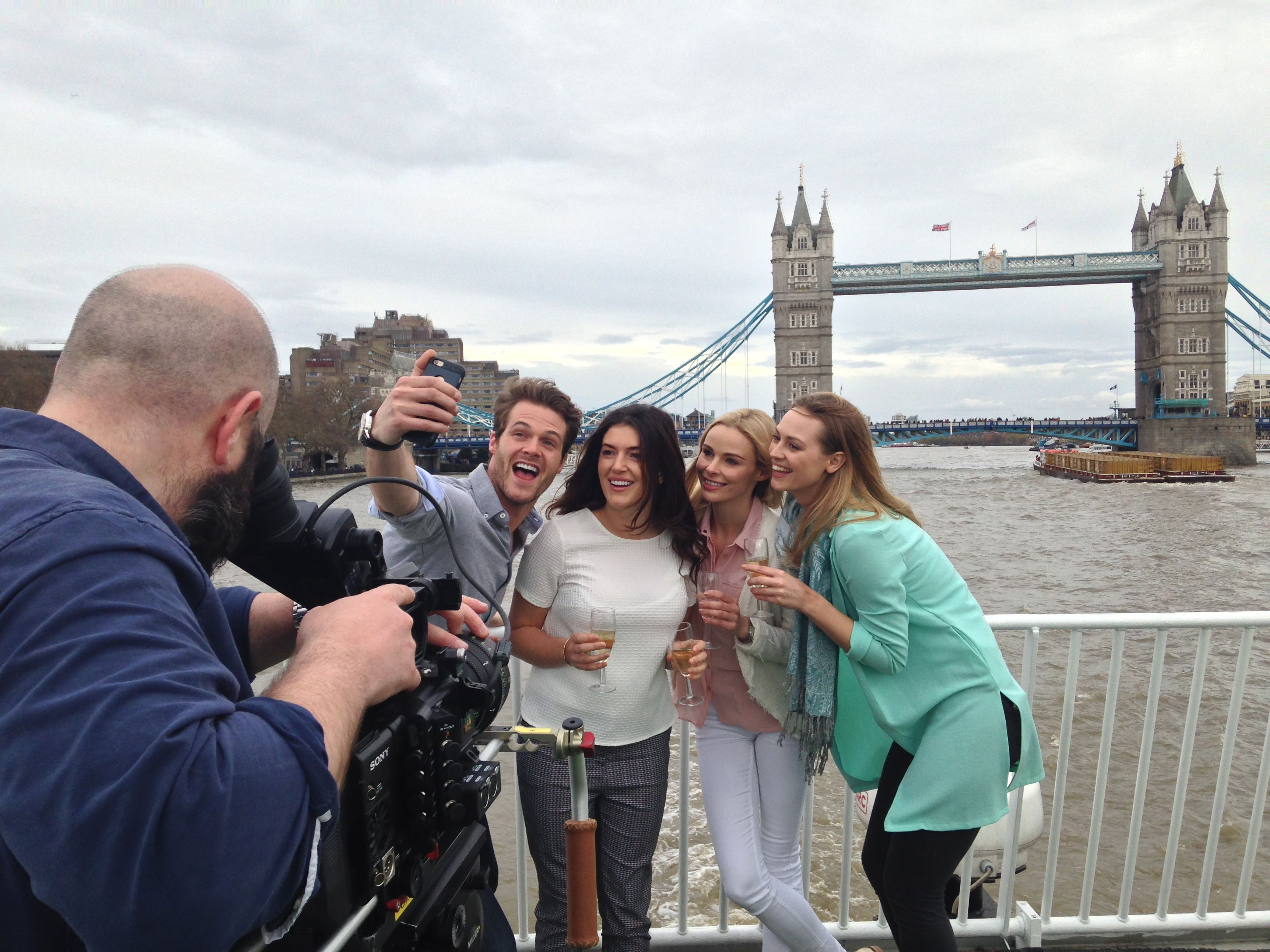 Stew & Crew filming on the Thames for Bateaux London. Thanks Fresh Agents Models for the lovely models!