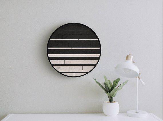 Moonlight Modern Wood Wall Art Panel- Wooden Wall Hanging- Rustic Wood Wall Art #reclaimedwoodwallart