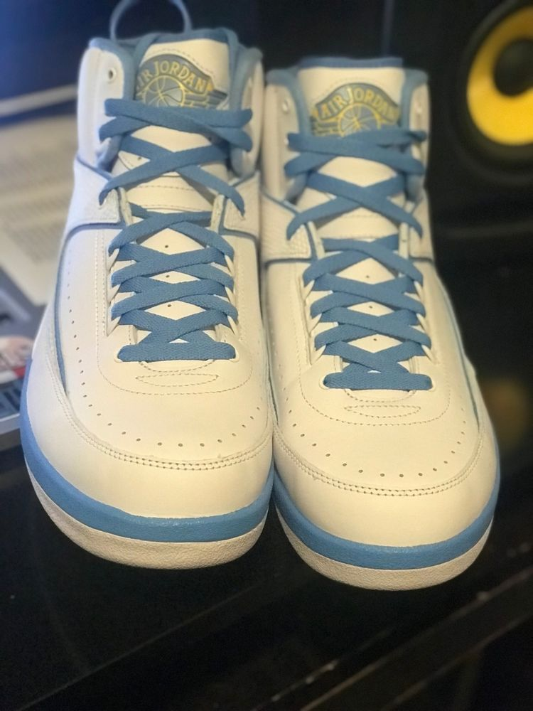 4d65ac73996 White/University Blue NIKE AIR JORDAN II 2 RETRO MELO 2018 SZ. 12 Brand New  #fashion #clothing #shoes #accessories #mensshoes #athleticshoes (ebay link)
