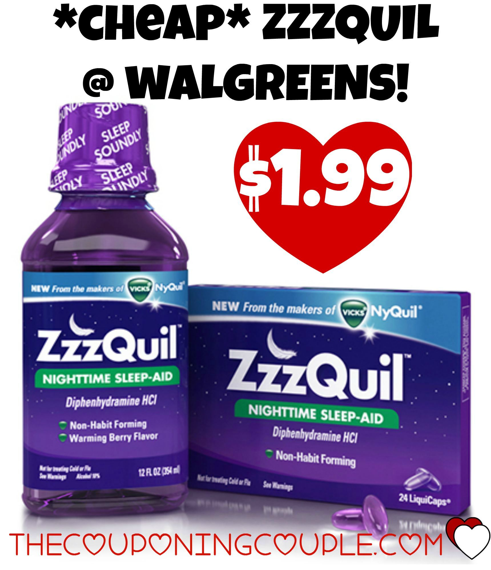 Cheap Zzzquil Just 1 99 Walgreens Reg 7 99 Walgreens Sleep Lover Coupons