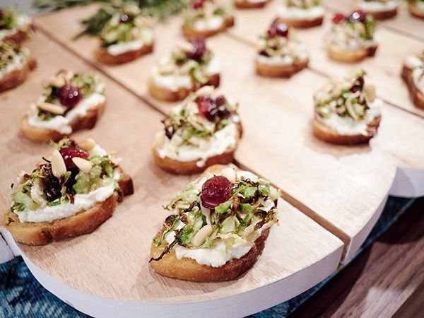Charred Brussels Sprout Crostini