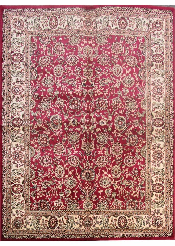 RUGS 4\'x6\' RED PERSIAN STYLE TRADITIONAL FLOOR RUG **FREE DELIVERY ...
