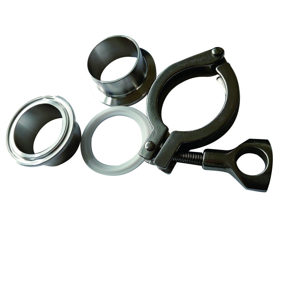 """2 Pcs 1//2/"""" to 2/"""" Sanitary Male Thread Ferrule Pipe Fitting+Tri Clamp+PTFE Gasket"""