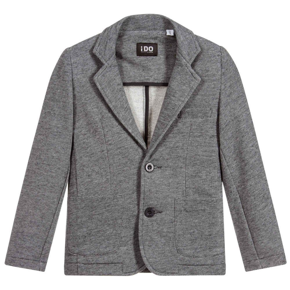 Boys Grey Jersey Blazer for Boy by iDO Junior. Discover the latest designer  Coats   Jackets for kids online 730fe3916016