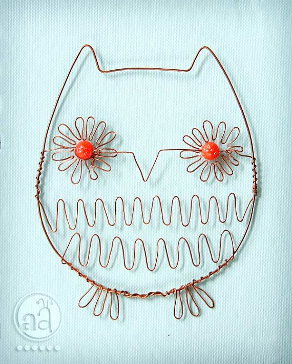Wire Owl - Beaded Ornament - Cute and Delicate | medley | owls ...