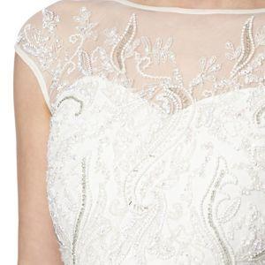 No. 1 Jenny Packham Designer ivory floral embellished mesh maxi dress- at Debenhams Mobile