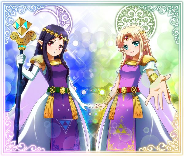 Princess Hilda And Zelda From A Link Between Worlds With Images