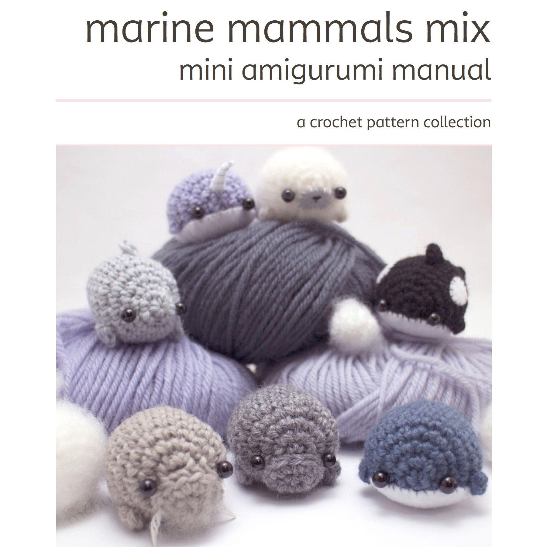 Crochet pattern collection - sea mammals | Amigurumi, Crochet and ...