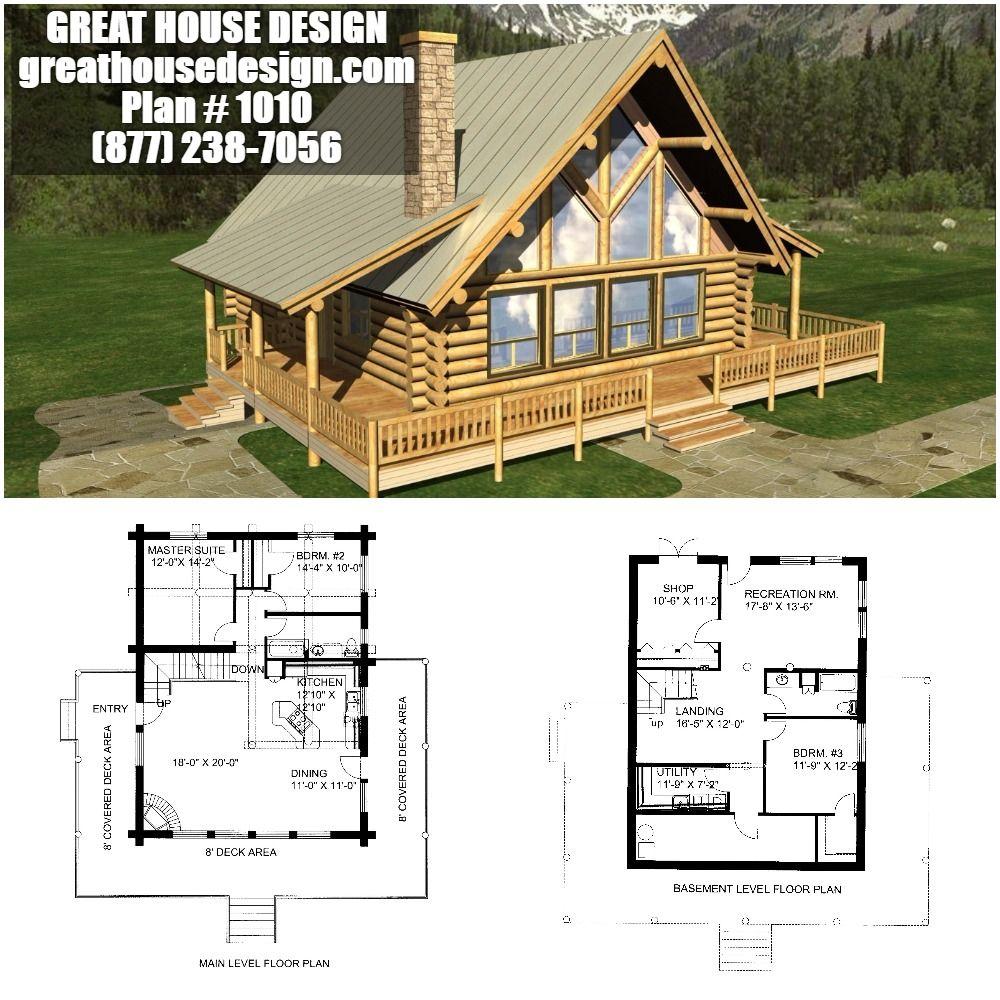 Cherokee Log Home And Log Cabin Floor Plan 780 Sf Loft Floor Plans Log Home Floor Plans House Plan With Loft
