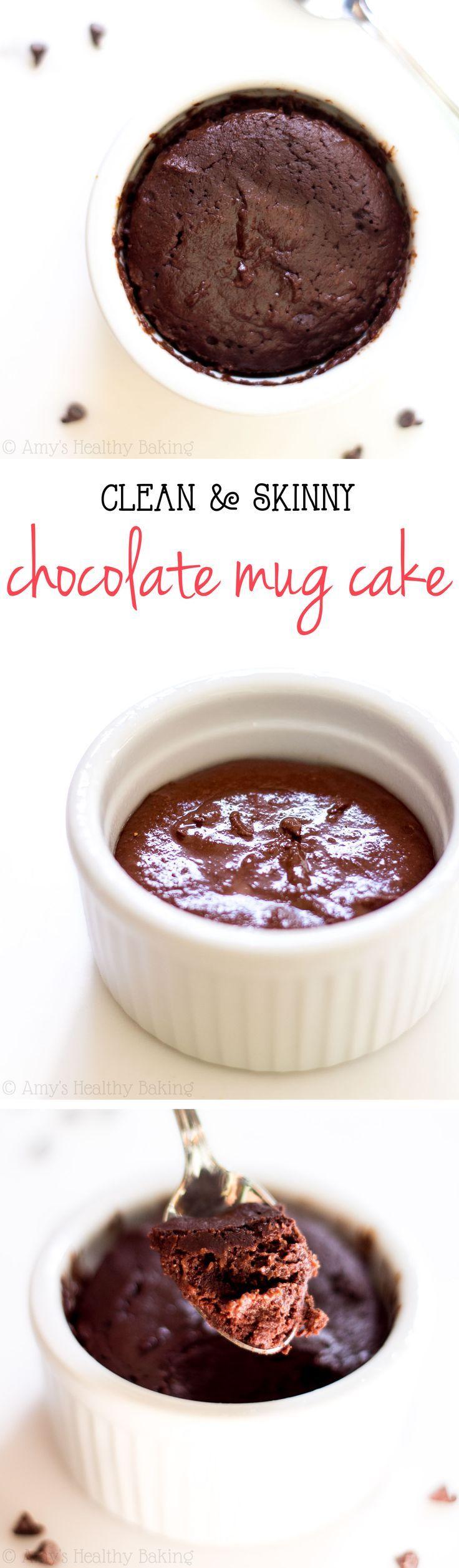 Single Serving Clean Chocolate Mug Cake {Recipe Video!}