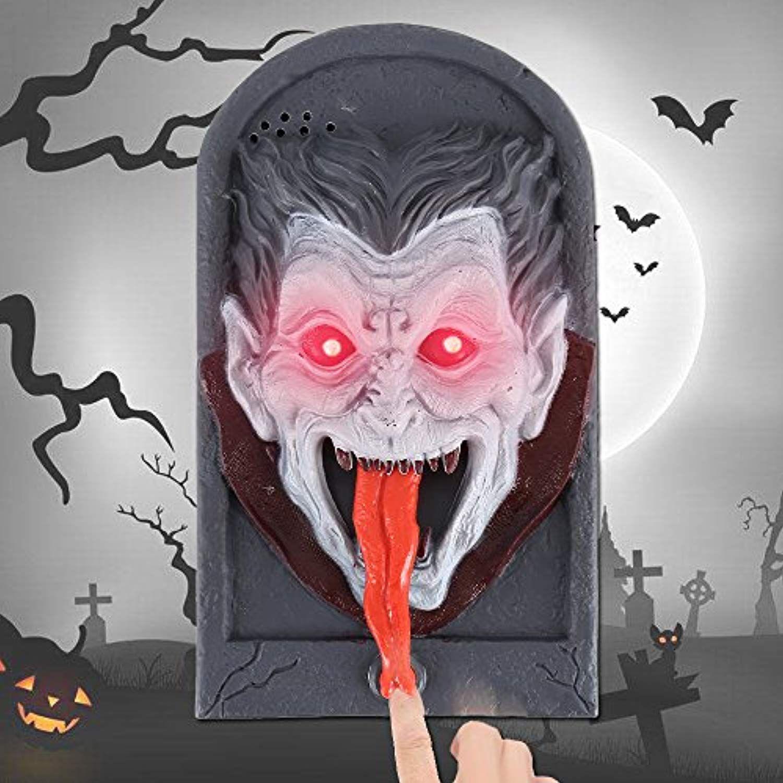 Cherry Juilt Halloween Decorations Animated Doorbell with