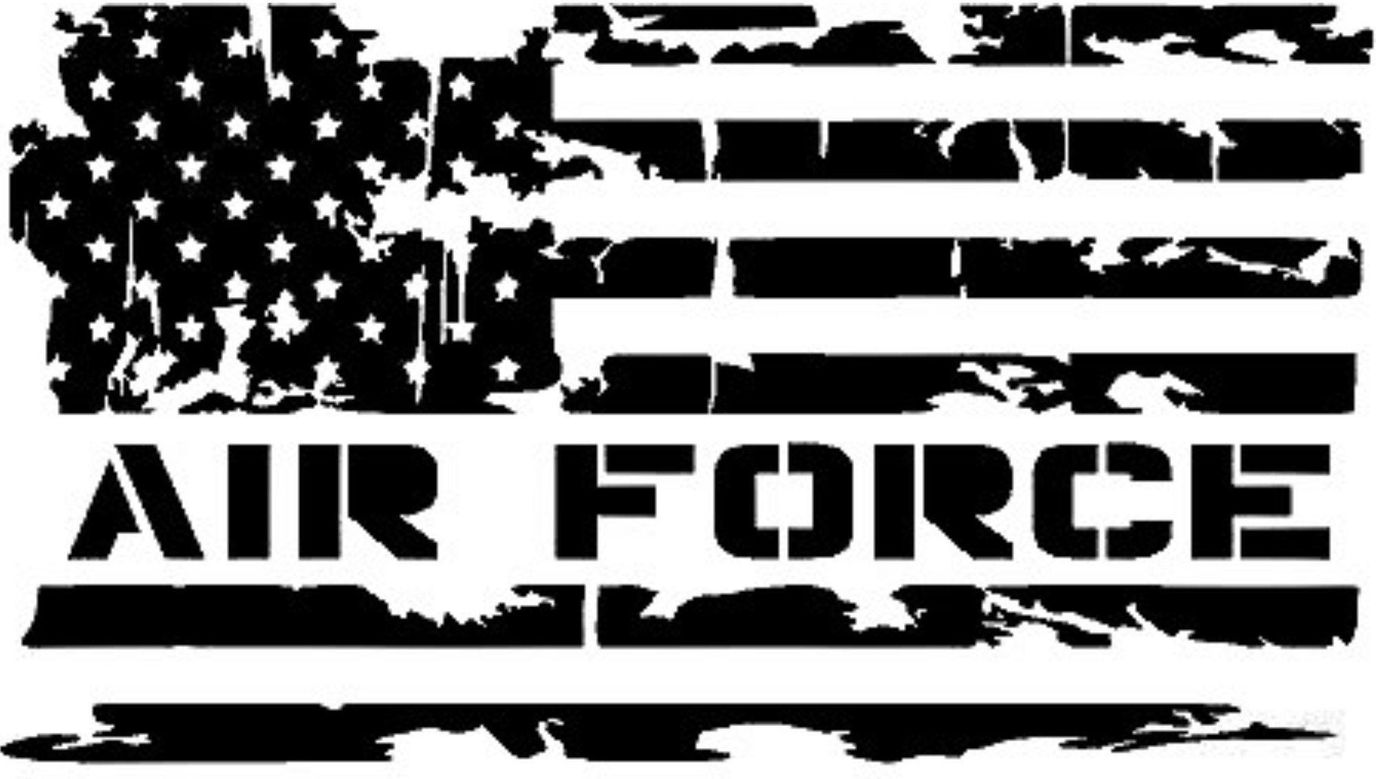 Air Force bumper sticker, laptop sticker, vinyl sticker