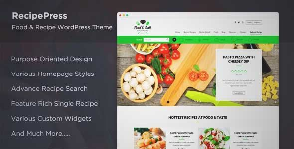 Download and review of recipepress food recipes premium download and review of recipepress food recipes premium wordpress theme one of the forumfinder Choice Image